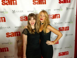 Lisa with Kelsey O'Brien at the premiere of 'Sam' in NYC